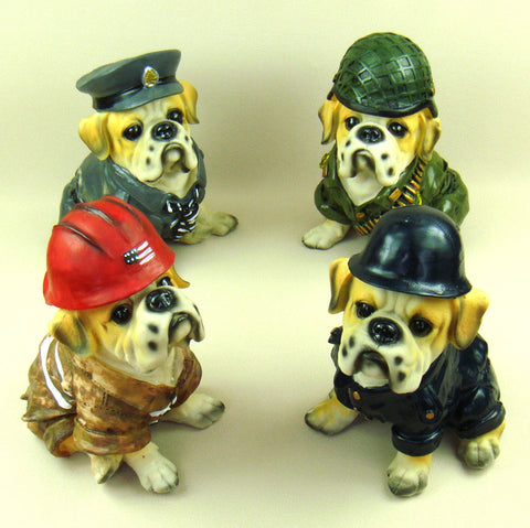 English Bulldog Uniform Ornament Figurine Decoration