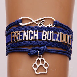 Love French Bulldog Paw Rope Bracelet
