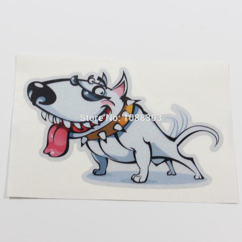 "Cool Bull Terrier Cartoon Sunglasses Sticker (4.7"", 5.9"")"