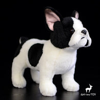 Black White French Bulldog Normal Stance Soft Plush Stuffed Animal