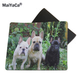 Three French Bulldogs Hanging Mouse Pad