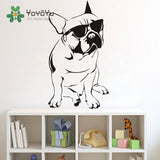 "Chilling French Bulldog Sunglasses Sticker (13"" x 22.4), (16.5"" x 28.3""), (22.4"" x 38.6"")"