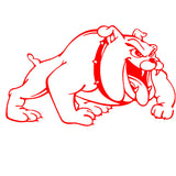 "Mean Scary English Bulldog Big Sticker (28.5"" x 17.3"")"