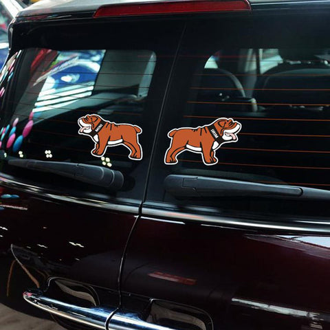 "Brown Colored English Bulldog Side 2 Stickers (4.3"" x 2.8"")"