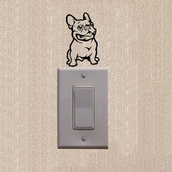 French Bulldog Looking Suspicious Outline Small Sticker