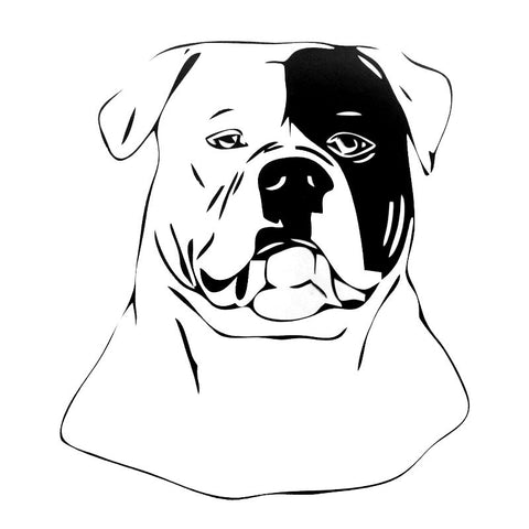 "American Bulldog Outline Right Patch Sticker (4.6"" x 5.2"")"