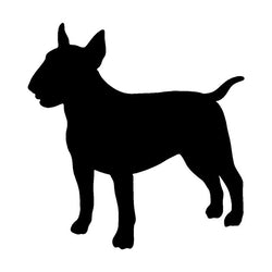 "Simple Bull Terrier Silhouette Side Angle Sticker (5"" x 4.8"")"