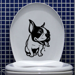 "Tired Sick French Bulldog Sticker (5.1"" x 7.6"")"