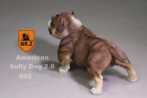 Short Buff American Bully Pit Bull 1/6 Scale Figurine Collectible 12