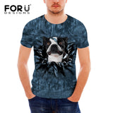Boston Terrier Shocked Head Out of Shirt Men's T-Shirt
