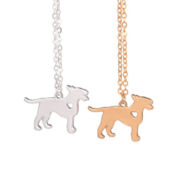 Heart Cut Out Full Bull Terrier Necklace