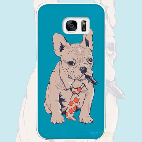 French Bulldog Tie Cigar Boss Phone Case for Galaxy