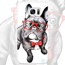 French Bulldog Red Glasses Red Bowtie Phone Case for Galaxy