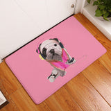 English Bulldog In Costume Multicolor Doormat