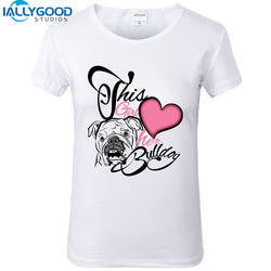 This Girl Heart Her Bulldog Women's T-Shirt