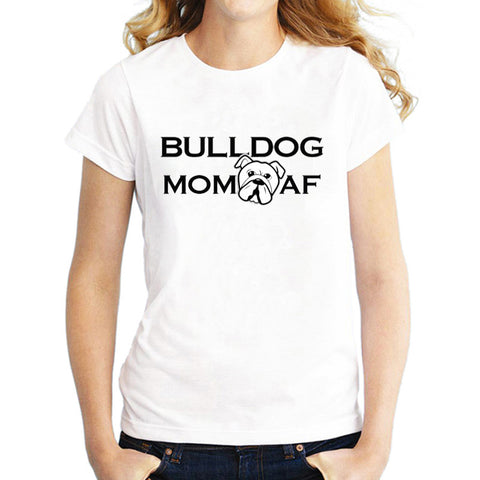 Bulldog Mom Head AF Women's T-Shirt