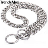 Cuban Silver Chain Link Style 13mm Wide Dog Collar