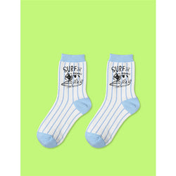 French Bulldog Surf Hawaii Women's Crew Socks