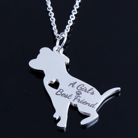 A girls best friend pit bull pendant necklace barking bullies a girls best friend pit bull pendant necklace aloadofball Choice Image
