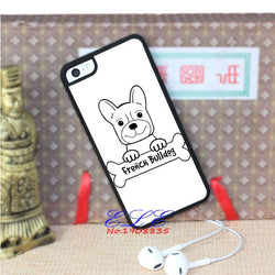 French Bulldog Drawing Outline Holding Bone Phone for iPhone