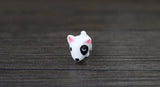 Small Miniature Bull Terrier Toy Figurine 3pc/set