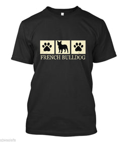 French Bulldog Silhouette Paw 3 Box T-Shirt