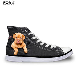 Pit Bull Puppy Chuck Taylor Style Shoes