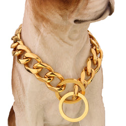 Cuban Chain Link Style 19mm Wide Dog Collar