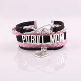 2 Color Love Pitbull Paw Rope Chain Bracelet