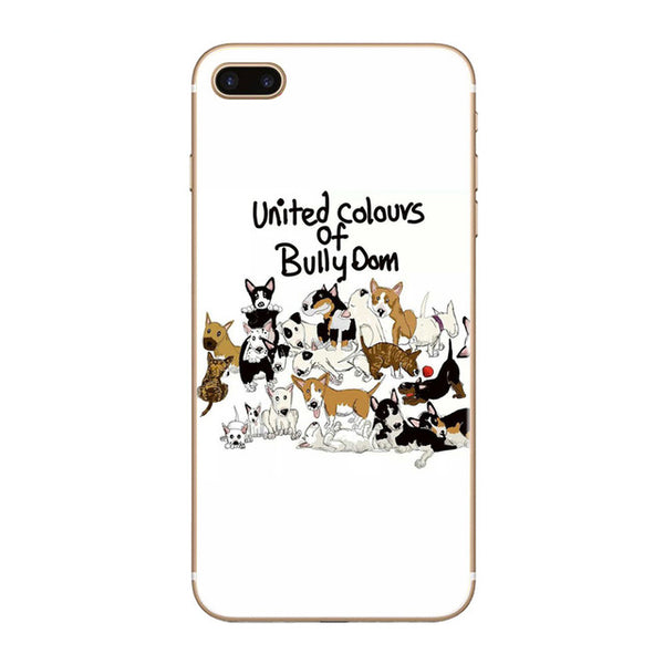 United Colours of Bully Dom Bull Terrier Phone Case for iPhone