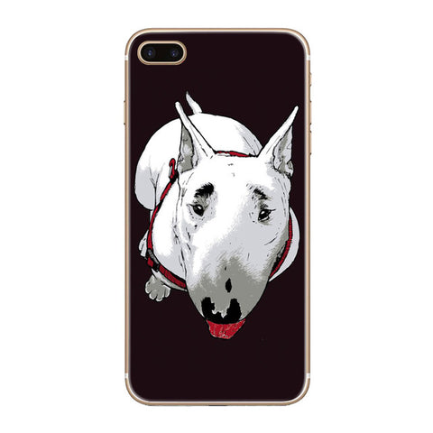 Bull Terrier Colored Sketch Top View Phone Case for iPhone