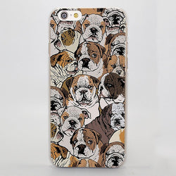 English Bulldog Different Emotions Pattern Phone Case for iPhone
