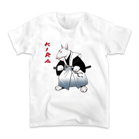 Samurai Bull Terrier Dog Men's T-Shirt