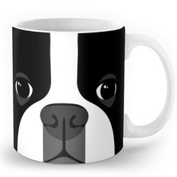 Boston Terrier Full Face Coffee Mug