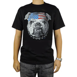 Mean Angry English Bulldog USA Bandana Men's T-Shirt