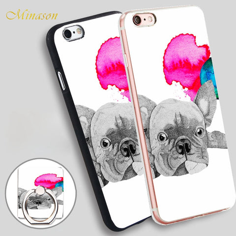 French Bulldog Laying Down Drawing Sketch Phone for iPhone