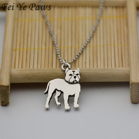Vintage Pit Bull Terrier Detailed Necklace