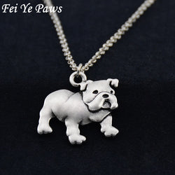 3D English Bulldog Pendant Necklace