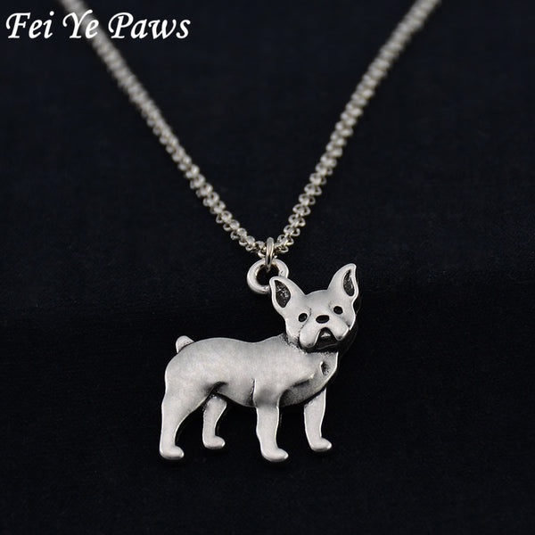 3D French Bulldog Pendant Necklace