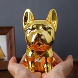 Creative Piggy Bank Bulldog Resin Decoration Large Coin Money Box Cute Puppy Home Decoration for Children Toys