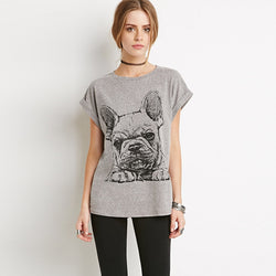 French Bulldog Sketch Big Image Women's T-Shirt