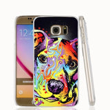 Colorful Abstract Pattern Design Pit Bull Phone Case for Galaxy
