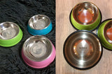 Colored Dog Water Food Bowl