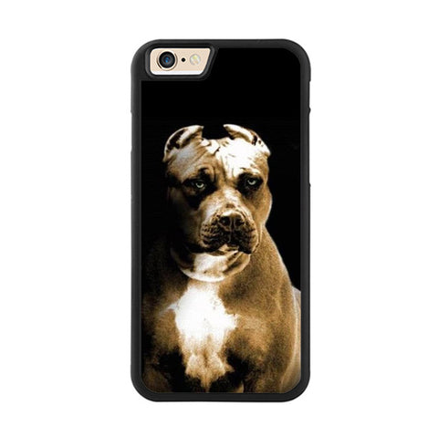 Big Blue Nose Pit Bull Battle Crop Ears Phone Case for iPhone