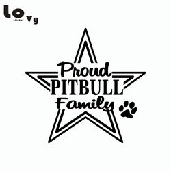 Proud Pitbull Family Wall Sticker
