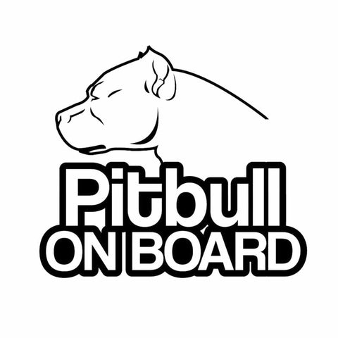 "Pitbull On Board Sticker (6.30"" x 5.47"")"
