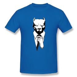 Pit Bull Head In Suit Men's T-Shirt