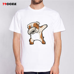 Dabbing English Bulldog Cartoon Men's T-Shirt
