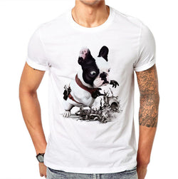 French Bulldog Gun Playing Toy Men's T-Shirt