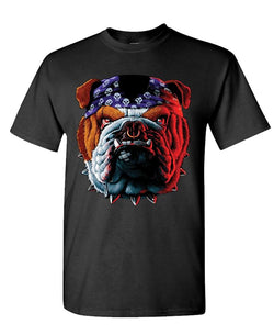Mean Angry English Bulldog Big Head Men's T-Shirt